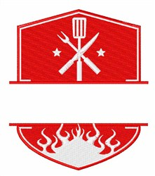 Grilling Logo embroidery design