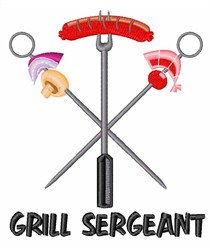 Grill Sergeant embroidery design
