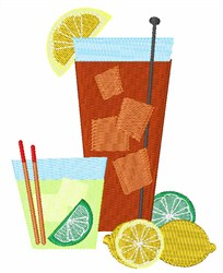 Drinks embroidery design