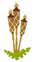 Torches embroidery design