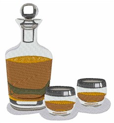 Liquor Decanter Set embroidery design