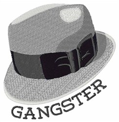 Gangster embroidery design