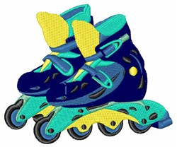 Roller Blades embroidery design