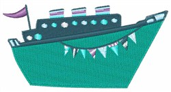 Cruise Ship embroidery design