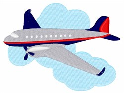 Flying Airplane embroidery design