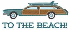 To The Beach! embroidery design