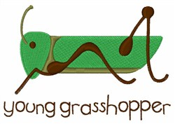 Young Grasshopper embroidery design