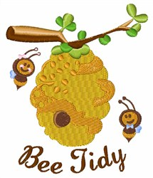 Bee Tidy Hive embroidery design