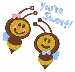 Boy and Girl Bees Youre Sweet embroidery design