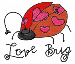 Lady Love Bug embroidery design