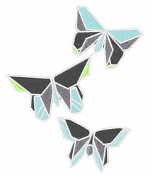 Origami Butterflies embroidery design