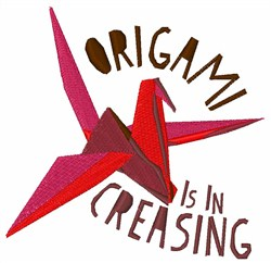 Origami Is Increasing Crane embroidery design