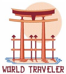 Japanese Gate World Traveler embroidery design