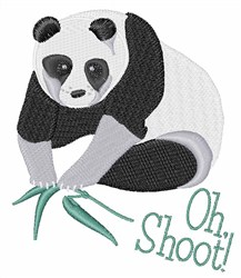 Oh Shoot Panda embroidery design