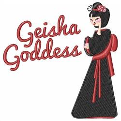 Geisha Goddess embroidery design