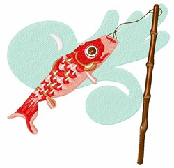 Koi Wind Sock embroidery design