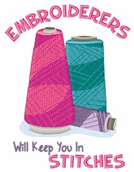 Keep You In Stitches embroidery design