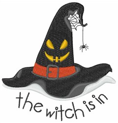 The Witch is In embroidery design