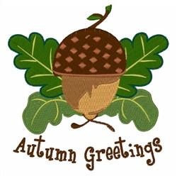 Autumn Greetings embroidery design