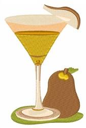 Pear Martini embroidery design