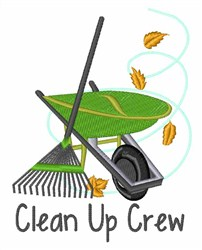 Clean Up Crew embroidery design