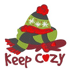 Keep Cozy embroidery design