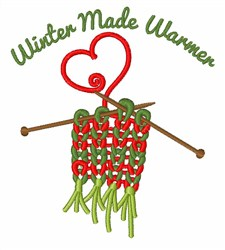 Winter Made Warmer embroidery design