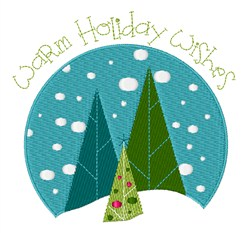 Holiday Wishes embroidery design