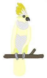 Yellow Cockatoo embroidery design