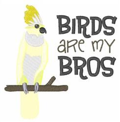 Birds Are Friends embroidery design