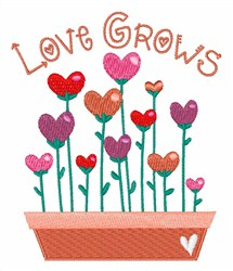 Growing Love embroidery design