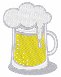Foamy Beer embroidery design