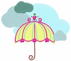 Umbrella In Clouds embroidery design