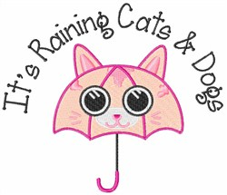 Raining Cats & Dogs embroidery design