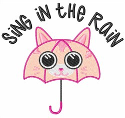 Sing In The Rain embroidery design