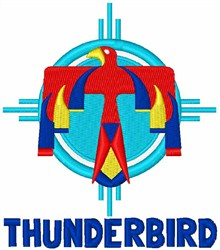Thunderbird Design embroidery design