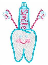 Smile Tooth embroidery design