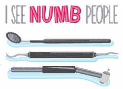 I See Numb People embroidery design