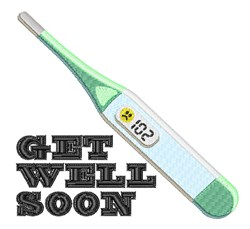 Get Well Soon embroidery design