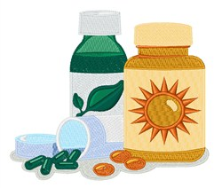 Medicine Pills embroidery design