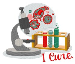 I Cure embroidery design
