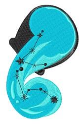 Aquarius Stars embroidery design