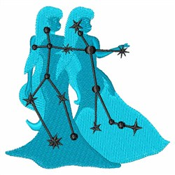 Gemini Stars embroidery design