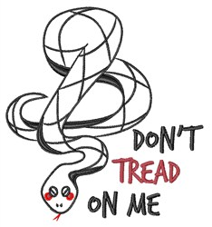 Dont Tread On Me embroidery design