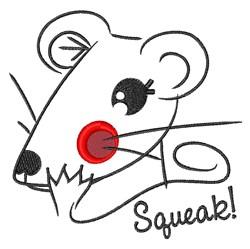 Squeak! embroidery design