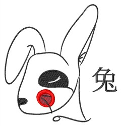 Chinese Rabbit Year embroidery design