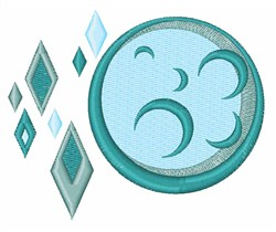 Diamond Moon embroidery design