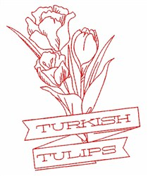 Turkish Tulips embroidery design
