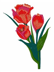 Spring Tulips embroidery design