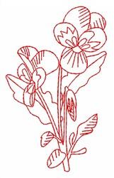 Violet Redwork embroidery design